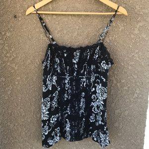 WHBM Black lace camisole Size S